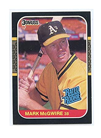d95d2700d 1987 Donruss  46 Mark McGwire Oakland Athletics Rated Rookie Card- Mint  Condition Ships in