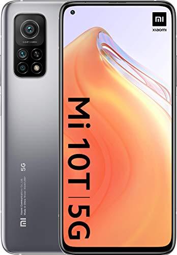 Xiaomi Mi 10T (Pantalla 6.67″ Fhd+ Dotdisplay, 6Gb+128Gb, Cámara de 64Mp, Snapdragon 865 5G, 5.000Mah Comcarga 33W) Plata Lunar [Versión Española]