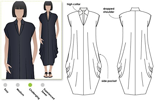 Style Arc Sewing Pattern - Toni Designer Dress (Sizes 18-30) - Click for Other Sizes Available Sewing Patterns Drapes