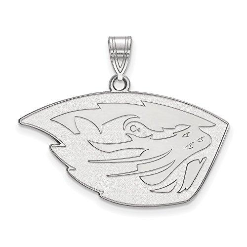 14k White Gold LogoArt Official Licensed Collegiate Oregon State University (OSU) Large Pendant by Logo Art