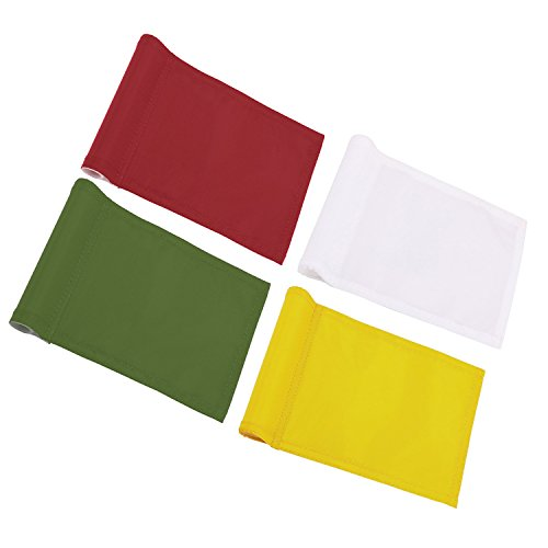 Kingtop 400D Nylon Solid Practice Putting Green Golf Flags (8
