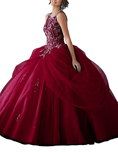 1845ab0003e Meilishuo Womens Organza Quinceanera Dresses