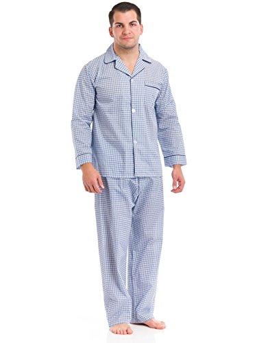 Botany Tall Man Long Sleeve, Long Leg Broadcloth Print Pajama 7c9-614