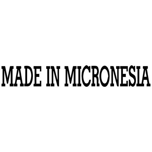 Made in Micronesia Decal Sticker (black), - PEEL and STICK Graphic Sticker - Decorative Bumper Window Laptop Notebook Sticker