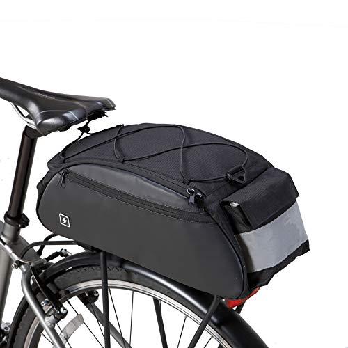 Bike Bag Rack Bag Bicyle Painners Bike Tool Bag Trunk Bag, Water Resistant 10Liters (2.64 Gal) Capacity with Reflective Strips, Made by Roswheel 142002