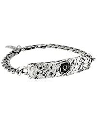 Pyrrha Men's New Beginnings Sterling Silver Identification Bracelet, 8.25""
