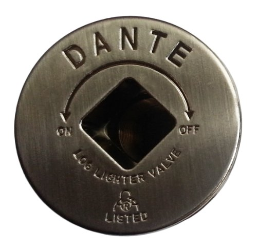 Dante Products FP.GV.PTR Pewter Floor Plate for Dante Globe Valve - Decorative Log Lighter Key