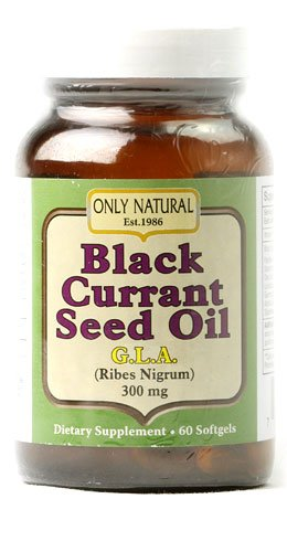 Only Natural Black Currant Seed Oil -- 300 mg - 60 Softgels - 2pc