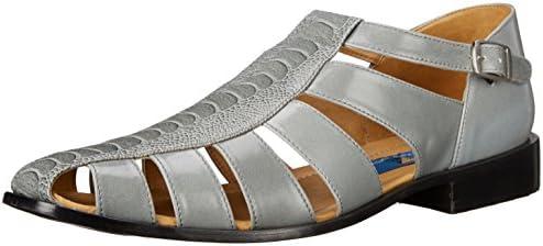 6c2e3698262f5 Giorgio Brutini Men's Quill Dress Sandal, Grey, 8.5 M US: Amazon.com