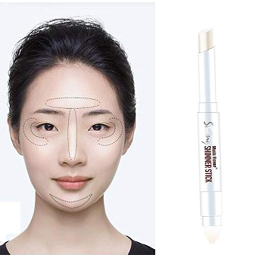 Price comparison product image Ourhomer Waterproof Lasting Double-Ended Makeup Pen Outline Highlighter Bright Face Flash Correction Stick (White)