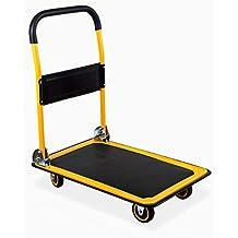 MaxWorks 80876 28.75 x 18.75 x 33 Foldable Platform Truck Push Dolly-330 lb. Weight Capacity-with Swivel Wheels (Renewed)