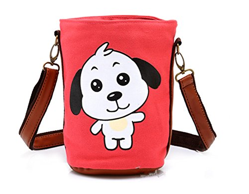 Beautiful Bucket Type Cellphone Bag for Girl Cute Cartoon Bag Fashion Pouches for iphone 4 5 iphone 6 6plus Samsung Galaxy S3 S4 S5 NOTE2 Note 3 HTC LG Shoulder Bag Wallet with Pump Belt Closure for Money Key Cards Makeup Lipstick Coin - Dog