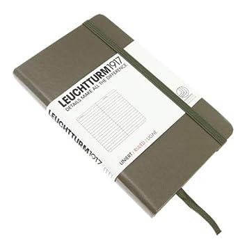 /Taccuino Pocket 185/pagine numerate A quadretti nero Leuchtturm1917/ A6