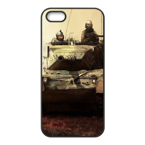 Art Tank Soldiers Weapon coque iPhone 4 4S cellulaire cas coque de téléphone cas téléphone cellulaire noir couvercle EEEXLKNBC23102