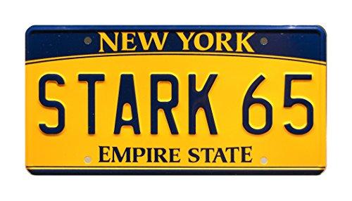 (Celebrity Machines Avengers: Age of Ultron | Tony Stark's Audi e-Tron | Stark 65 | Metal Stamped Vanity Prop License)