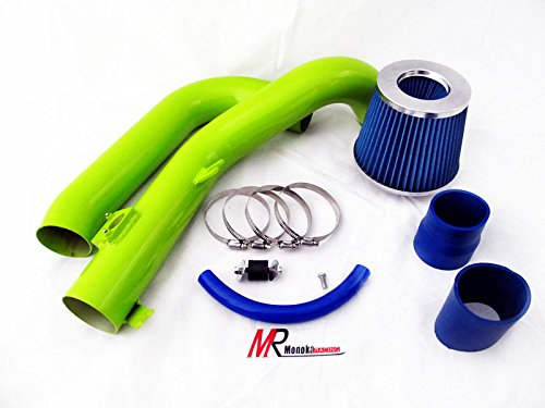 07 08 09 10 Scion tC 2.4L VVTi L4 Green Piping Cold Air Intake System Kit with Blue Filter by Monoka Racing (Image #3)