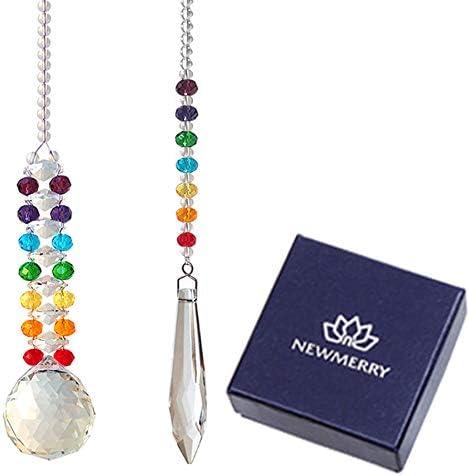 Newmerry Crystal Suncatcher Pendant Hanging product image