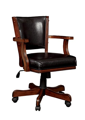 HOMES: Inside + Out Thatcher Contemporary Height Adjustable Game Chair, Cherry For Sale