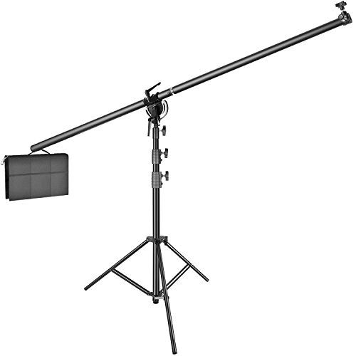 Heavy Duty Boom Arm (Neewer Photo Studio Heavy Duty Air-Cushioned 5-11 feet/1.6-3.3 meters Light Stand and 7.6 feet/2.3 meters Cross Bar Boom Arm with Mounting Adapter and Sand Bag for Strobe Light, Reflector, Monolight)