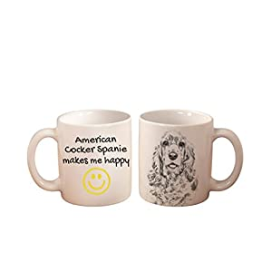 American Cocker Spaniel, mug with a dog,, cup, ceramic, new collection 17