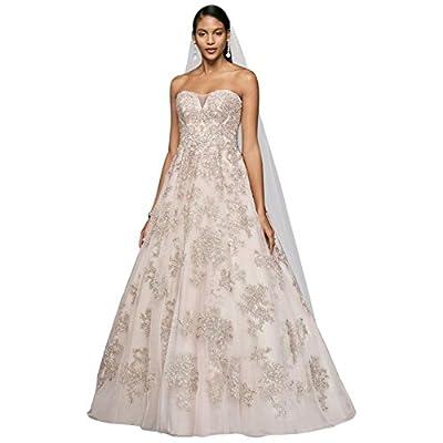 David's Bridal Blush A-Line Wedding Dress Style CWG767