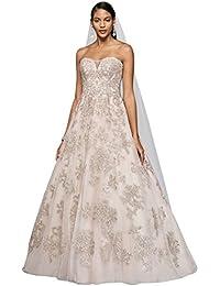 Tulle Blush A-Line Wedding Dress Style CWG767