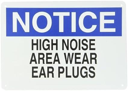 Brady 25493 plástico protección para los oídos símbolo, 10 ...