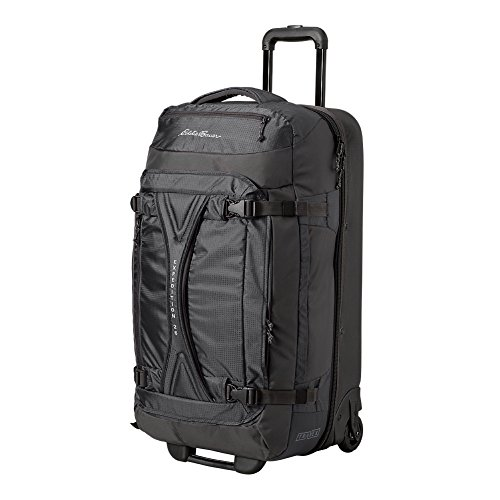 Eddie Bauer Unisex-Adult Expedition Drop-Bottom Rolling Duffel - Large, Black Re