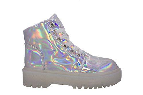 Silver YRU Sneaker YRU Hologram Slayer Slayer qORaaU
