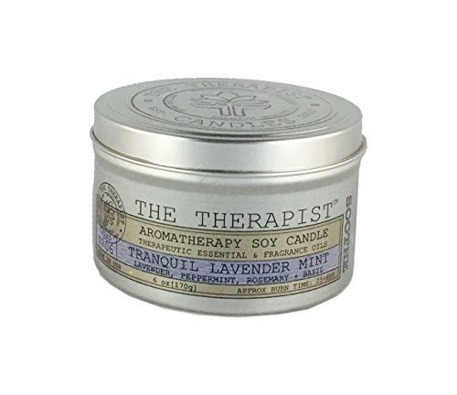 Soy 6 Oz Travel Tin - No. 06 Tranquil Lavender Mint Soy Candle - Travel Tin 6 oz