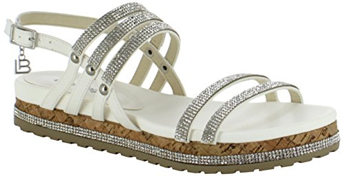 Laura Biagiotti Women's Luise Ankle Strap Sandals White (White 09) free shipping collections perfect for sale best seller cheap how much Po8kkmVF