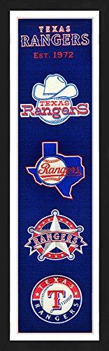 - Winning Streak Texas Rangers Framed 13x36 Heritage Banner
