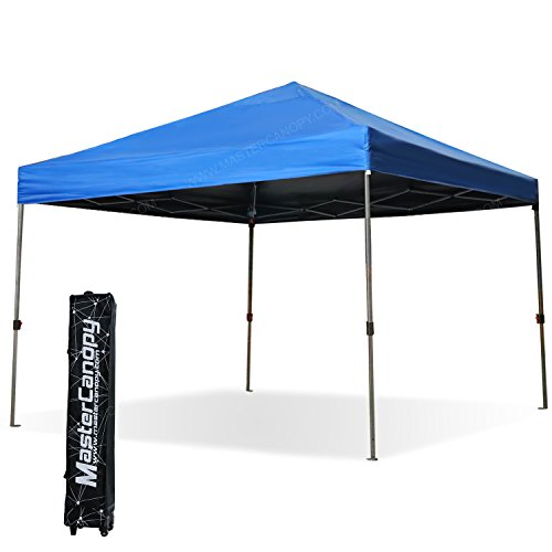 MASTERCANOPY 10x10ft Instant Pop-up Portable Folding Canopy W/Wheeled roller bag (Royal Blue)