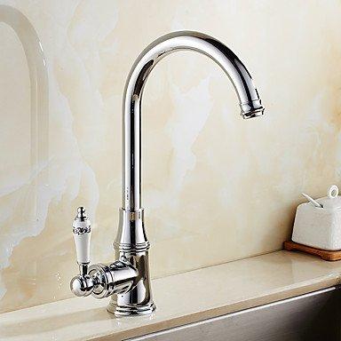 SUNNY KEY Zeitgenössisch Standard Spout Becken drehbarer with Keramisches Ventil Einhand Ein Loch for Chrom, Armatur für die Küche