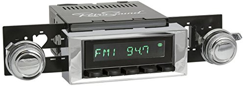 (RetroSound HB-115-121-03-73 Hermosa Direct-Fit Radio for Classic Vehicle (Black Face and Buttons and Chrome Bezel))