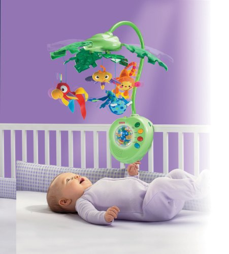 Fisher-Price Rainforest Peek-A-Boo Leaves Musical Mobile by Fisher-Price (Image #3)