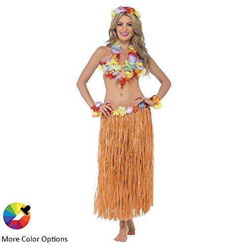 Hawaiian Grass Hula Dancer Skirt Luau Party Costume Events Elastic Waist