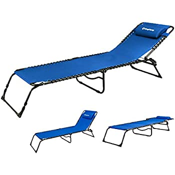 Amazon Com Kingcamp Chaise Lounge Folding Cot Camping