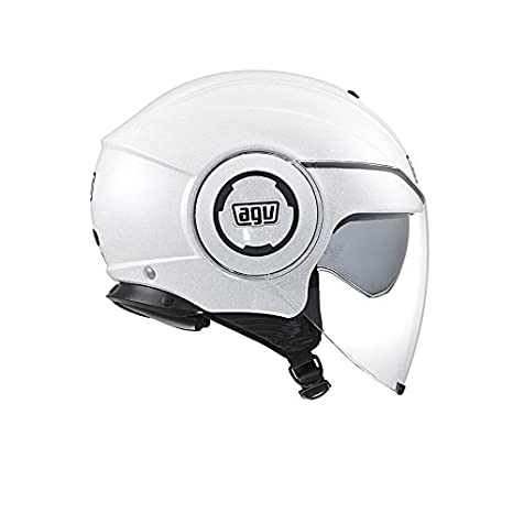 Solid Bianco Misura 9 AGV J4811A4G0005L Casco Fluid E2205