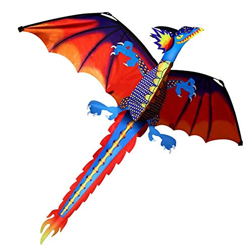 Lijuan Qin Cool 3D Dinosaur Kite for Kids and Adults, Fun Flying Kites Games Toys for Outdoor Summer Activities Beach