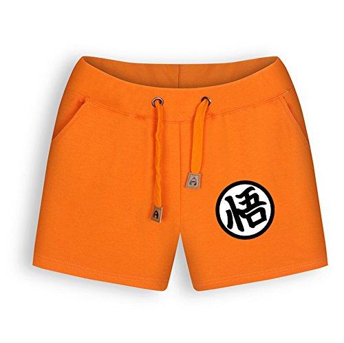 NSOKing Womens Dragon Ball Z Orange Color Costume Pants Summer Shorts (Medium, Womens)