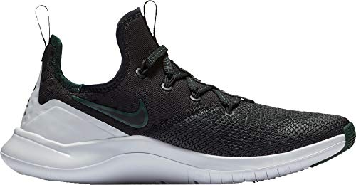 Nike Women's Michigan State Free TR 8 Training Shoes (Black/Black/White, 11 M US)
