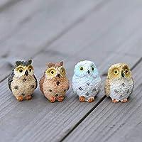Passionsell Micro Landscape Owl Doll Resin Fairy Home Garden Decoration Micro Ornaments Decoration Ornaments Bird Miniature Figurines