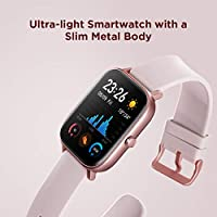 Amazfit GTS Smartwatch with 14-Day Battery Life,1.65 Inch AMOLED Display, Customizable Widgets, Slim Metal Body, 5 ATM Water Resistance, 24/7 Heart ...