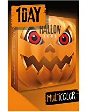 HALLOWLENS Gekleurde Halloween Contactlenzen, Zachte Motief lens voor chique Jurk Kostuum, 2 stuks, 1 paar, Eenmalig gebruik zonder voorschrift, 2 stuks 1 Paar - Verkleed je als VOLTURI VAMPIER - Rood