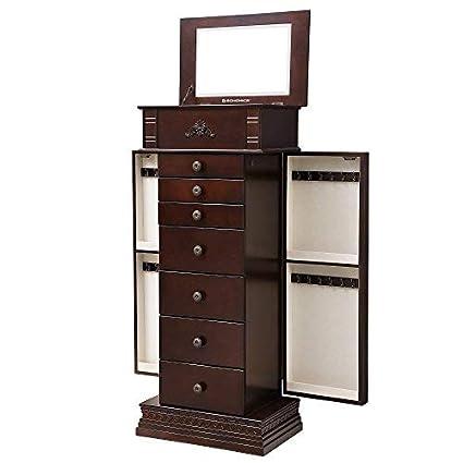 Amazon Com Songmics Large Jewelry Armoire Cabinet Standing Storage