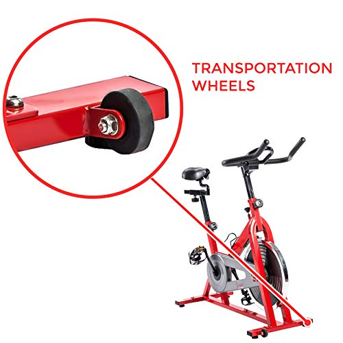 Sunny Health & Fitness SF-B1001 Indoor Cycling Bike, Red by Sunny Health & Fitness (Image #6)