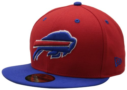 - NFL Buffalo Bills Two Tone 59Fifty Fitted Cap, Red/Blue, 7 3/8