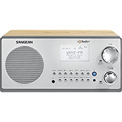 Sangean HDR-18 HD Radio/FM-Stereo/AM Wooden Cabinet Table Top Radio (Certified Refurbished)