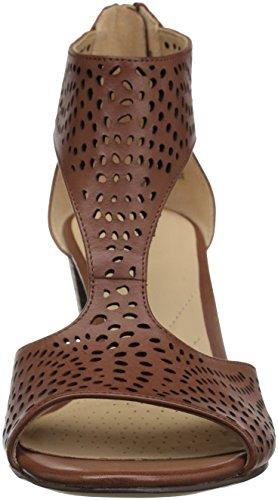 Clarks Kvinna Deloria Liv Pump Mahogny Läder